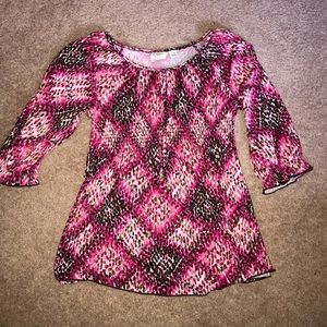 (3/$15) Cato Girls tie-back sparkle shirt XL 16